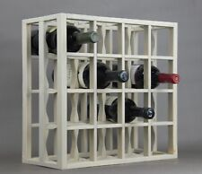 Victoria Wine Rack 16 bottles Solid Wood  Sunbeached Grey Stain Countertop