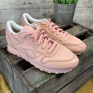 UK5 Reebok X Face Stockholm Classic Pink Leather Retro 80s/90s Style Trainers