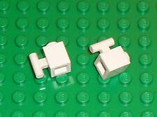 2 x LEGO white Brick 1 x 1 with Handle 2921 / Set 10173 4560 10214 4561 10225...