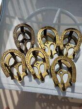 New listing 6  Bridle Bracket Holder Brass Horseshoe Coat Hook Rack Tack Room Equestrian