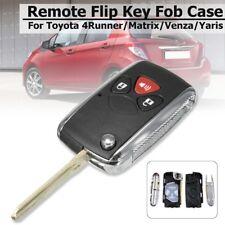 3 Button Flip Remote Key Fob Case Uncut For Toyota Yaris RAV4 Matrix Scion xB tC