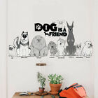 Dog Is A Friend Wall Stickers Home Decor Animal Wall Decals Diy Mural Art Jh Zc