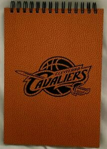 """5"""" x 7""""  CLEVELAND CAVALIERS NOTEBOOK  w/ BASKETBALL LEATHER COVER  CAVS  *  NEW"""