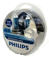 H4 Philips White Vision Ultra +60% 4200K incl. 2x W5W White Vision 12342WVUSM