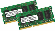 4GB Kit 2x 2GB DDR3 1600 MHz PC3-12800 204 Pin Laptop RAM Sodimm Notebook Memory
