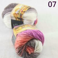 Sale Lot of 2 Skeins New Knitting Yarn Chunky Colorful Hand Wool Wrap Scarves 07