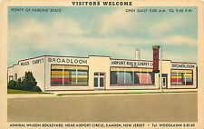 CAMDEN NJ BROADLOOM AIRPORT RUG/CARPET CO. ADV. LINEN 1951 P/C