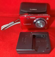 Panasonic LUMIX DMC-FS16 14MP Digital Camera Red with Case & Charger, Excellent