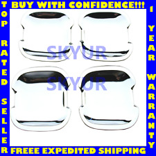 Mercedes C ML Chrome Exterior Door Handle Cover/Scuff Plate Set (4 Piece) URO