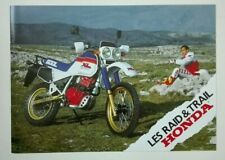 Prospectus Catalogue Brochure Moto Honda Gamme Trail 1985