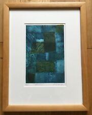 Modern Contemporary Artist Proof Abstract Print Titled Blocks Signed P Gabriel
