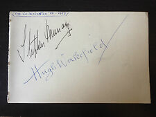STEPHEN MURRAY / HUGH WAKEFIELD - THE LIE DETECTOR ACTORS - SIGNED VINTAGE PAGE