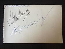 STEPHEN MURRAY / HUGH WAKEFIELD - THE LIE DETECTOR ACTORS - SIGNED VINTAGE PAGE