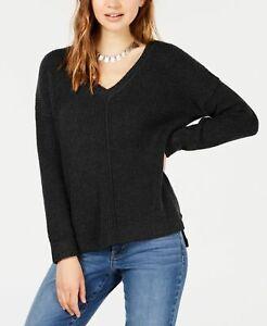 Hippie Rose NWT L Black Knit V-neck Sweater $44 B098