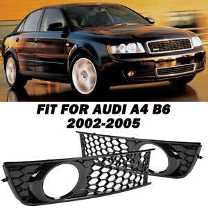 Paire Calandre Antibrouillard Pare-chocs Avant Convient Pour Audi A4 B6 2002-05