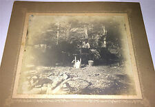 Antique Outdoor Brothers on Camping Trip! Roy & Bart Hall! Cabinet / Mount Photo