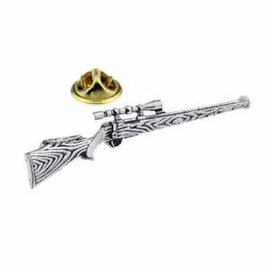 Hawkdale English Pewter Lapel Pin Badge - Shooting Designs - Made In UK