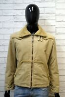 DIESEL Uomo M Parka Giacca Cappotto Giubbotto Beige Giaccone Costine Jacket Man