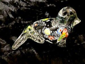 VINTAGE ART GLASS MURANO MILLEFIORI SEAL STATUE FIGURE PAPERWEIGHT