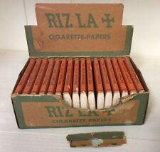 Vintage RIZLA + LLF Cigarette Rolling Paper, Original Display Box, 16 Pkgs