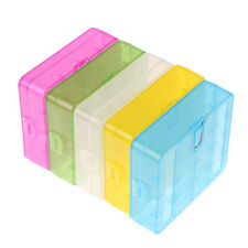Portable Hard Plastic Translucent Case Holder Storage Box For 4X AA AAA Battery