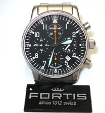 FORTIS FLIEGER CLASSIC CHRONOGRAPH CHRONOMETER $4,500 WATCH - MINT BOXED & RARE