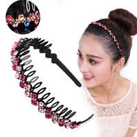 Women's Bead Crystal Shiny Party Hairband Teeth Headband Hair Hoop Accessories