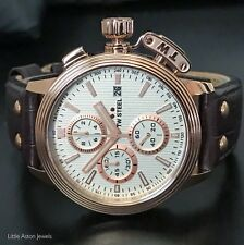 TW Steel Mens CEO Adesso Rose Gold Chronograph Watch CE7013