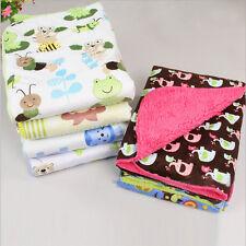 Cute Baby Newborn Soft Fleece Blanket Pram Crib Moses Basket Girls Boys H&T