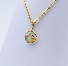 GOLD JEWELLERY, SOLID 10 CARAT GOLD PENDANT WITH SOLID OPAL 8689