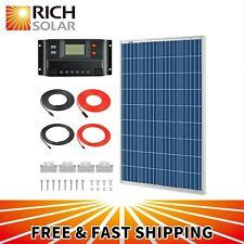 100 Watts 12 Volt Polycrystalline Solar Kit w/ 30Amp PWM Charge Controller