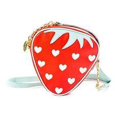 Betsey Johnson Women's Strawberry Crossbody Bag RED KITSCH NEW NWT STRAP