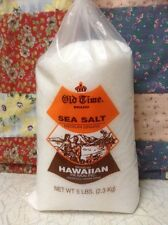 Old Time Sea Salt Medium Grains 5 LBS. Hawaiian Salt.
