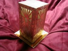 Star of Bethlehem Christmas Candle Gorgeous Gold Design w/ Plate Holder NEW