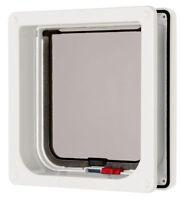 Lockable Cat Flap & Liner White 16.5x17.4cm