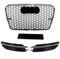 Pour Audi A6 4G 11-14 RS6 Look Calandre Nid D'Abeille + Voir Pare-Chocs D #01