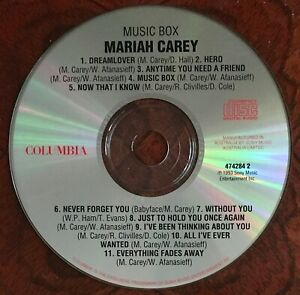 MARIAH CAREY: Music Box [1 x CD Album Disc, Columbia 1993] Dreamlover-Hero...