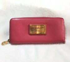 Marc by Marc Jacobs Original Slim Zip Around Continental Wallet Hot Pink Leather