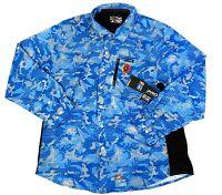 Pelagic Pro Series Blue Outdoor Sports Sea Fishing Long Sleeve Shirt Mens 2XL