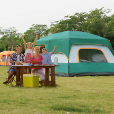 Family Camping Tent Large Waterproof 8 Person Room Instant Setup With Sun Shade.
