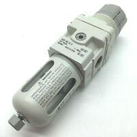 "SMC AW20-N02-CZ-A Filter/Regulator, 1/4"" NPT, 7-100psi, W/ Bowl Guard"