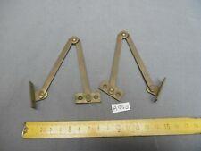 Paire de compas d'abattant 180 mm en laiton,  hifi, secrétaire ...(réf AS60)