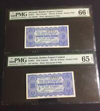 31.03.1942 Sarawak, Rubber Export Coupon 25 Katis PMG 65/66 EPQ