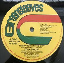 "Eek A Mouse/Toyan""Terrorists In The City/Majorie"" Greensleeves 12"" VG+RARE RAGGA"