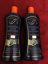 (2) SILICARE Shampoo Azul Matizador Care Color Elimina Visos Amarillos 400 Ml