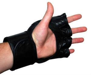 New, MMA Gloves In Leather, Free Shipping.