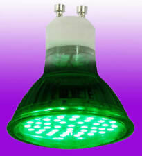 4 Watt GU10 High Power LED Lamp 240v - Green