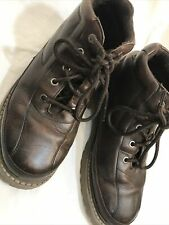 RJ COLT Brown LEATHER Ankle Casual Work Shoes SZ 8M