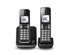 Teléfonos fijos inalámbricos Panasonic con anuncio de conjunto sin contestador