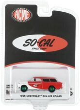 """Chase 1955 CHEVROLET BEL AIR NOMAD """"SO-CAL SPEED SHOP"""" 1/64 GREENLIGHT ACME"""